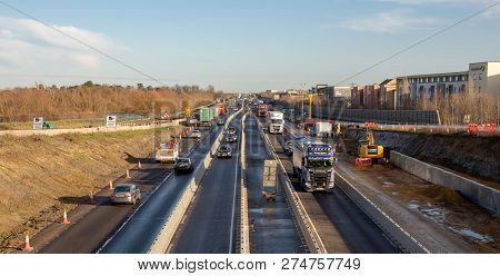 Cambridge December 19, 2018: Misery Continues For 2 More Years On A14. One Of The Biggest Infrastruc