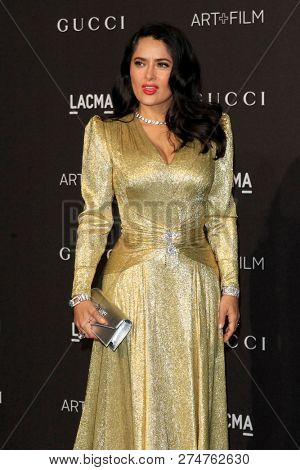 LOS ANGELES - NOV 3:  Salma Hayek at the 2018 LACMA: Art and Film Gala at the Los Angeles County Musem of Art on November 3, 2018 in Los Angeles, CA
