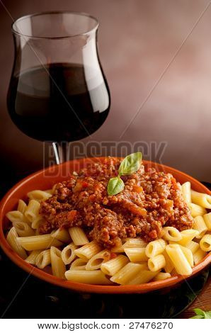ragu pasta close up
