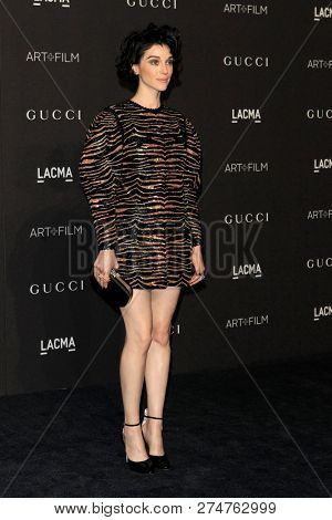 LOS ANGELES - NOV 3:  St Vincen at the 2018 LACMA: Art and Film Gala at the Los Angeles County Musem of Art on November 3, 2018 in Los Angeles, CA