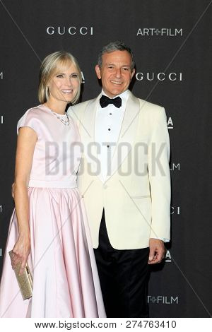 LOS ANGELES - NOV 3:  Willow Bay, Bob Iger at the 2018 LACMA: Art and Film Gala at the Los Angeles County Musem of Art on November 3, 2018 in Los Angeles, CA