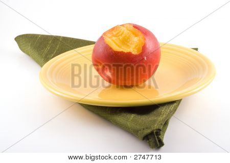 Bite Out Of A Nectarine.
