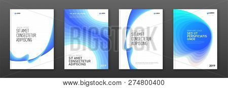 Corporate Brochure Cover Design Templates Set For Business. Good For Annual Report, Magazine Cover,