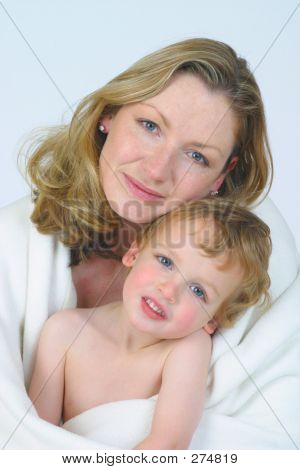 Mother And Son In White