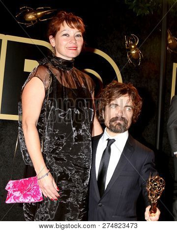 LOS ANGELES - SEP 17:  Erica Schmidt, Peter Dinklage at the HBO Emmy After Party - 2018 at the Pacific Design Center on September 17, 2018 in West Hollywood, CA