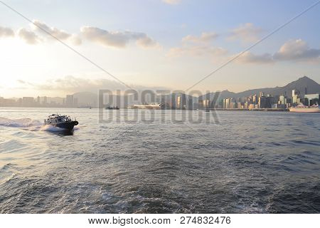 View Of Hong Kong Habour At Ferry