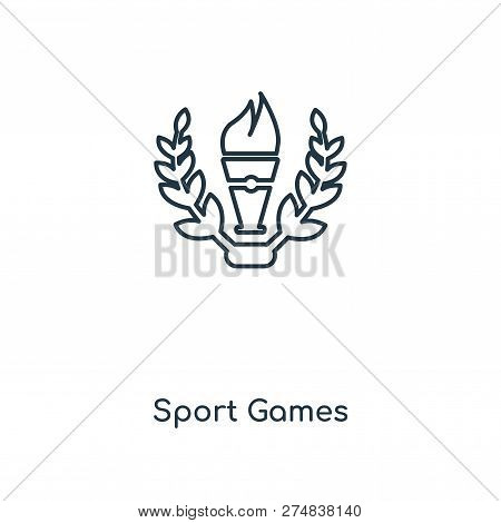 Sport Games Icon In Trendy Design Style. Sport Games Icon Isolated On White Background. Sport Games