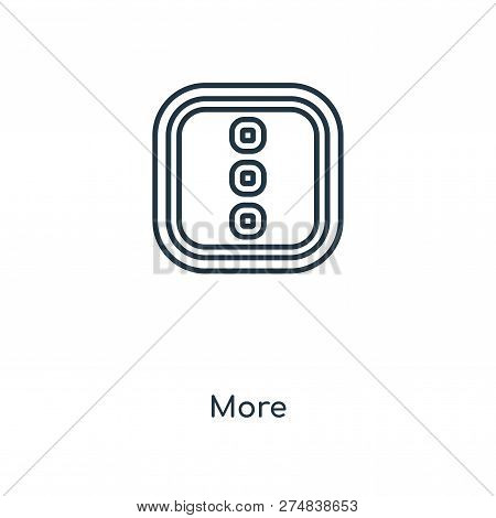 More Icon In Trendy Design Style. More Icon Isolated On White Background. More Vector Icon Simple An