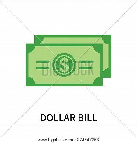 Dollar Bill Icon Isolated On White Background. Dollar Bill Icon Simple Sign. Dollar Bill Icon Trendy