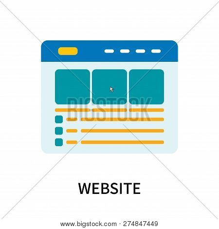 Website Icon Isolated On White Background. Website Icon Simple Sign. Website Icon Trendy And Modern