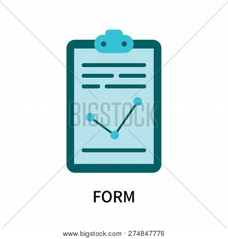 Form Icon Isolated On White Background. Form Icon Simple Sign. Form Icon Trendy And Modern Symbol Fo