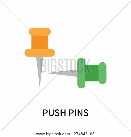 Push Pins Icon Isolated On White Background. Push Pins Icon Simple Sign. Push Pins Icon Trendy And M
