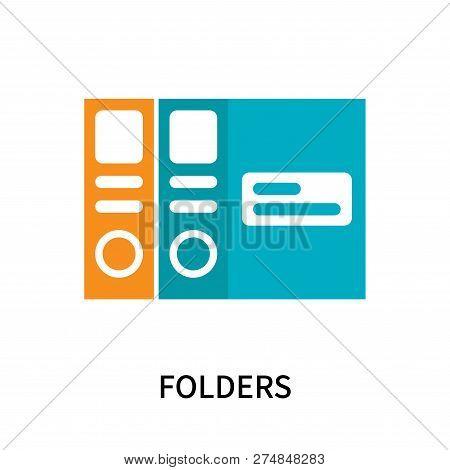 Folders Icon Isolated On White Background. Folders Icon Simple Sign. Folders Icon Trendy And Modern