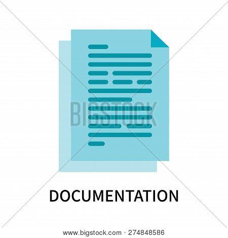 Documentation Icon Isolated On White Background. Documentation Icon Simple Sign. Documentation Icon