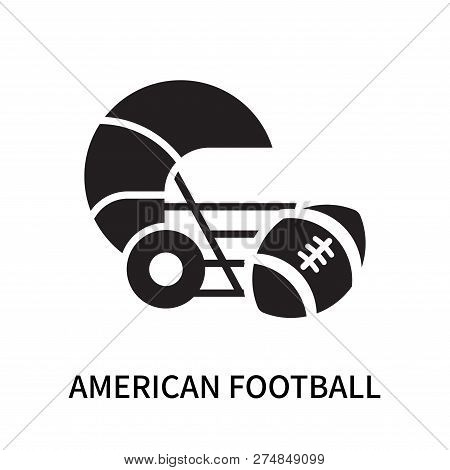 American Football Icon Isolated On White Background. American Football Icon Simple Sign. American Fo