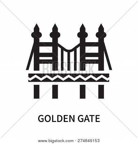 Golden Gate Icon Isolated On White Background. Golden Gate Icon Simple Sign. Golden Gate Icon Trendy
