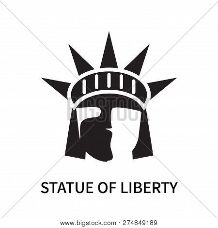 Statue Of Liberty Icon Isolated On White Background. Statue Of Liberty Icon Simple Sign. Statue Of L