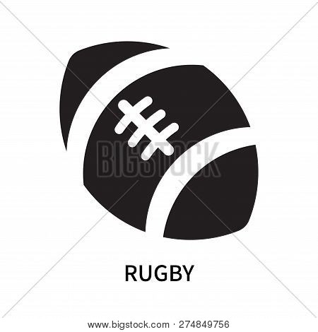Rugby Icon Isolated On White Background. Rugby Icon Simple Sign. Rugby Icon Trendy And Modern Symbol