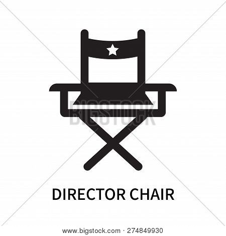 Director Chair Icon Isolated On White Background. Director Chair Icon Simple Sign. Director Chair Ic