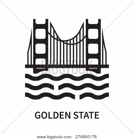 Golden State Icon Isolated On White Background. Golden State Icon Simple Sign. Golden State Icon Tre