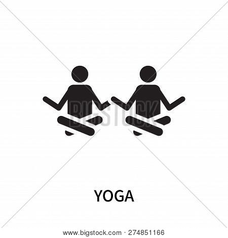 Yoga Icon Isolated On White Background. Yoga Icon Simple Sign. Yoga Icon Trendy And Modern Symbol Fo