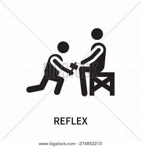 Reflex Icon Isolated On White Background. Reflex Icon Simple Sign. Reflex Icon Trendy And Modern Sym