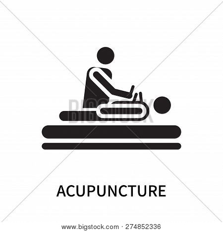 Acupuncture Icon Isolated On White Background. Acupuncture Icon Simple Sign. Acupuncture Icon Trendy