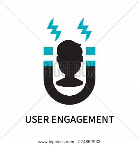 User Engagement Icon Isolated On White Background. User Engagement Icon Simple Sign. User Engagement