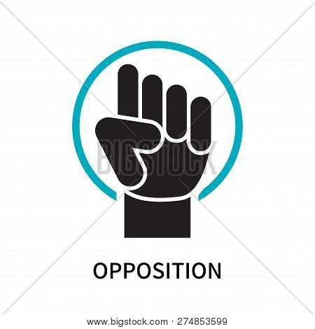 Opposition Icon Isolated On White Background. Opposition Icon Simple Sign. Opposition Icon Trendy An