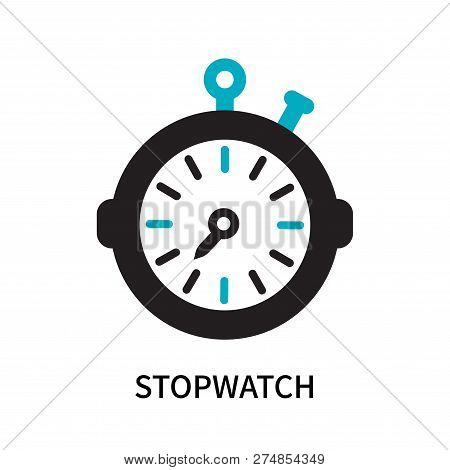 Stopwatch Icon Isolated On White Background. Stopwatch Icon Simple Sign. Stopwatch Icon Trendy And M