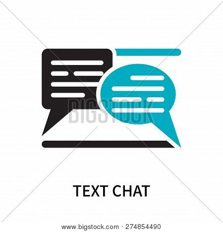 Text Chat Icon Isolated On White Background. Text Chat Icon Simple Sign. Text Chat Icon Trendy And M