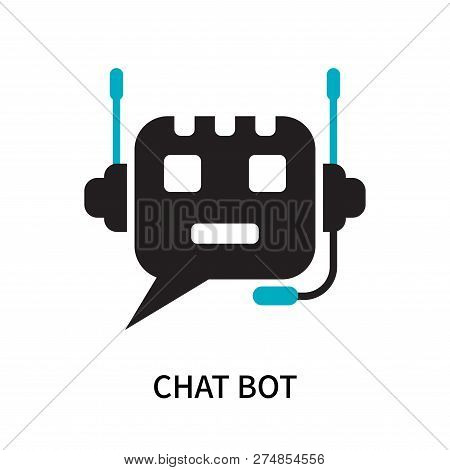 Chat Bot Icon Isolated On White Background. Chat Bot Icon Simple Sign. Chat Bot Icon Trendy And Mode