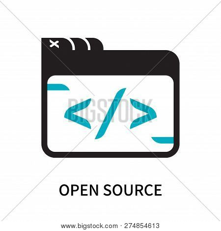 Open Source Icon Isolated On White Background. Open Source Icon Simple Sign. Open Source Icon Trendy