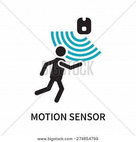 Motion Sensor Icon Isolated On White Background. Motion Sensor Icon Simple Sign. Motion Sensor Icon