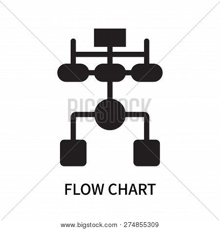 Flow Chart Icon Isolated On White Background. Flow Chart Icon Simple Sign. Flow Chart Icon Trendy An