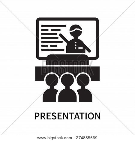 Presentation Icon Isolated On White Background. Presentation Icon Simple Sign. Presentation Icon Tre