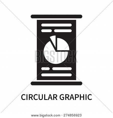 Circular Graphic Icon Isolated On White Background. Circular Graphic Icon Simple Sign. Circular Grap