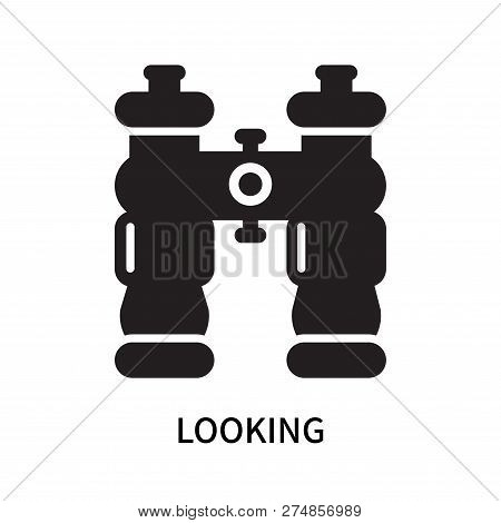 Looking Icon Isolated On White Background. Looking Icon Simple Sign. Looking Icon Trendy And Modern