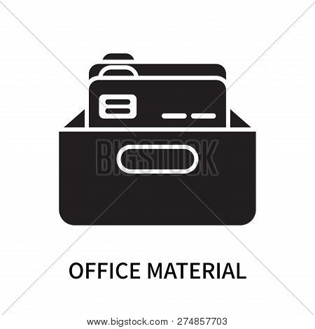 Office Material Icon Isolated On White Background. Office Material Icon Simple Sign. Office Material