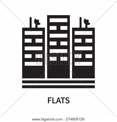 Flats Icon Isolated On White Background. Flats Icon Simple Sign. Flats Icon Trendy And Modern Symbol
