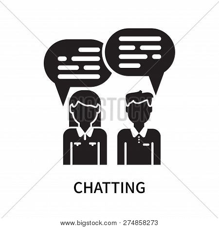 Chatting Icon Isolated On White Background. Chatting Icon Simple Sign. Chatting Icon Trendy And Mode