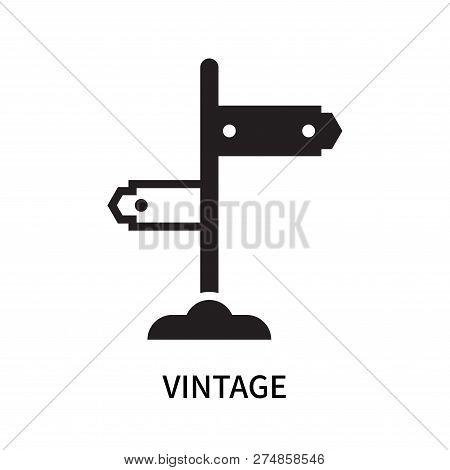 Vintage Icon Isolated On White Background. Vintage Icon Simple Sign. Vintage Icon Trendy And Modern