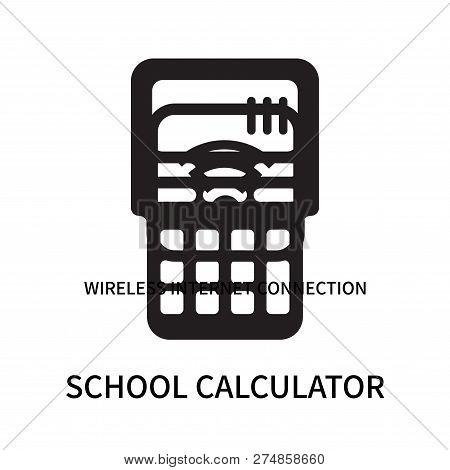 School Calculator Icon Isolated On White Background. School Calculator Icon Simple Sign. School Calc