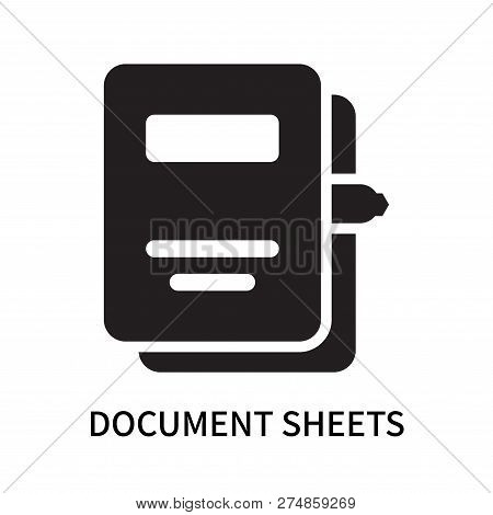 Document Sheets Icon Isolated On White Background. Document Sheets Icon Simple Sign. Document Sheets