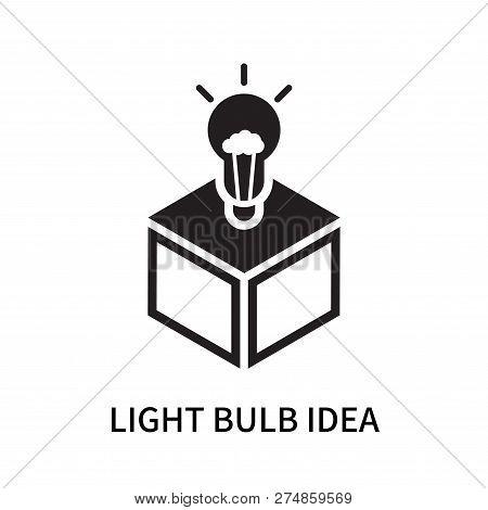 Light Bulb Idea Icon Isolated On White Background. Light Bulb Idea Icon Simple Sign. Light Bulb Idea