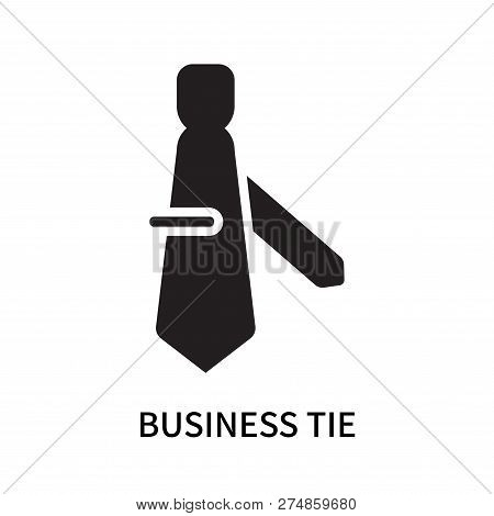 Business Tie Icon Isolated On White Background. Business Tie Icon Simple Sign. Business Tie Icon Tre