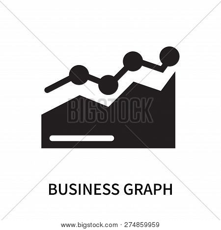 Business Graph Icon Isolated On White Background. Business Graph Icon Simple Sign. Business Graph Ic