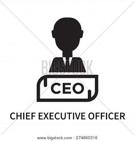 Chief Executive Officer Icon Isolated On White Background. Chief Executive Officer Icon Simple Sign.