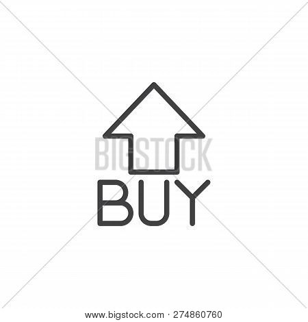 Buy Arrow Outline Icon. Linear Style Sign For Mobile Concept And Web Design. Buy Now Arrow Simple Li