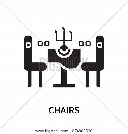 Chairs Icon Isolated On White Background. Chairs Icon Simple Sign. Chairs Icon Trendy And Modern Sym